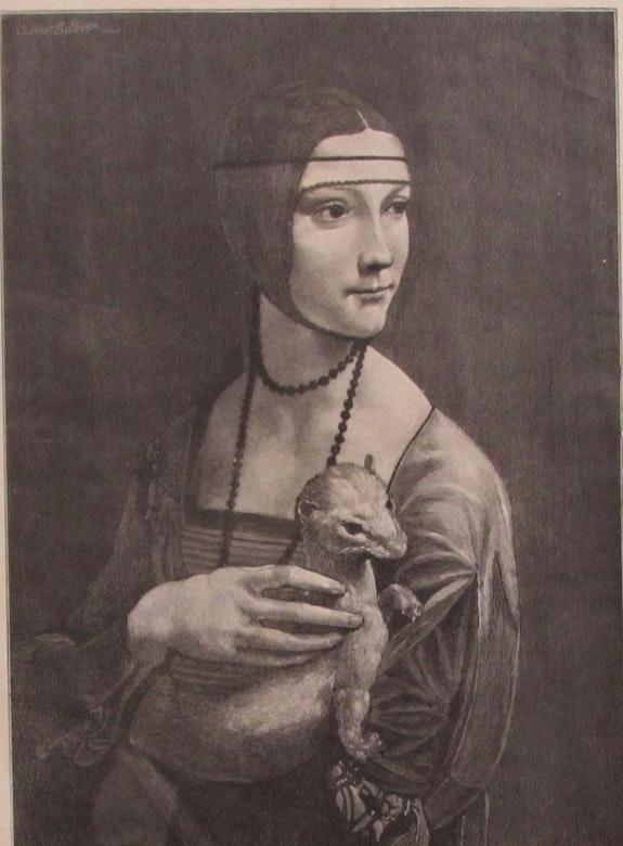Bellenger/Bellanger (1851-1898), «La Dame à L'Hermine» d'après Léonard de Vinci. Clément-Édouard Bellenger / Bellanger (1851-1898), d'après Léonard De Vinci. Historien d'art, Archéologue; Chercheur Free-L.