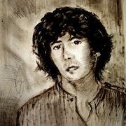 Autoportrait Bernard Vega 1983. Bernard Vega