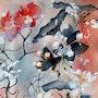 Délicates Fleurs - Quand une aquarelle et une photographie se mélangent. Aline Demarais - Aquarelles