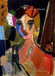 Española (73 X 54 cm) Técnica mixta sobre lienzo. Jose Manuel Merello