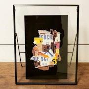 Collages de Clara Vardanian chez un collectionneur. Clara Vardanian