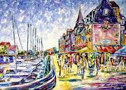 Am Hafen von Honfleur.