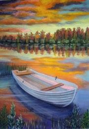 La barque abandonnée.