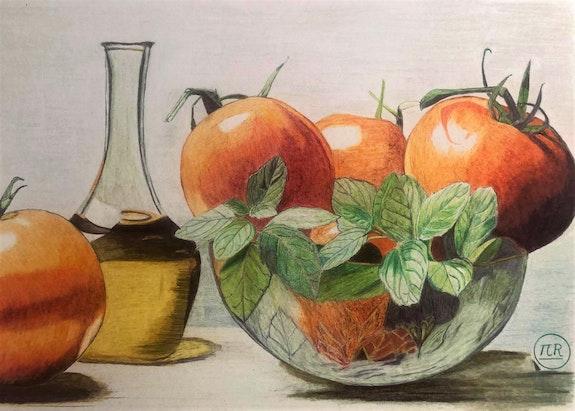 Récolte de tomates. Πr Dessins