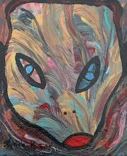 Le chat du masque de l'espace.