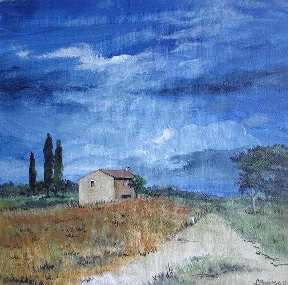 Paysage de provence, ciel couvert. Lise Buissart Lise Buissart