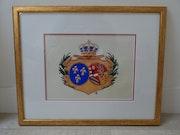 Armoiries de la Reine Marie-Antoinette. Aurelis Lysaurum