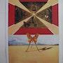 Salvador dali : Roussillon - Lithographie originale signée #sncf, Suite Papillon. Art Fever - Fontarabie