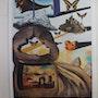Salvador dali : Normandie - Lithographie originale signée #sncf - Suite Papillon. Art Fever - Fontarabie