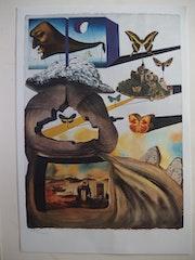 Salvador dali : Normandie - Lithographie originale signée #sncf - Suite Papillon.