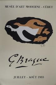 Georges braque (d'après) : Les Colombes Lithographie signée mourlot Musée Céret. Art Fever - Fontarabie