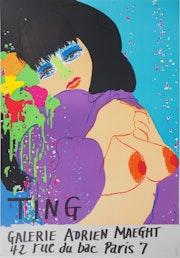 Walasse ting - Bleue, Moment intime, 1974 - Lithographie signée. Art Fever - Fontarabie