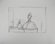 Alberto Giacometti (d'après) - Buste à l'atelier, Lithographie Signée. Art Fever - Fontarabie