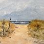 Dans les dunes. Lise Buissart