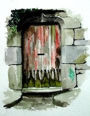 La porte mystérieuse. Claude Beretti