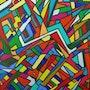 Un tableau apparait lorsque les couleurs sont apposees. Luc Terrail