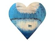 Série « les Valentines » Peinture abstraite acrylique décorative Valentine 7.