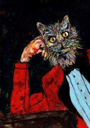 2- Elegante Gato.. Carmen Luna