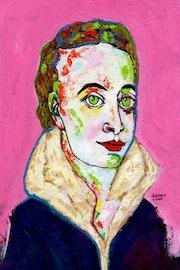 90- Pintora Medieval.. Carmen Luna