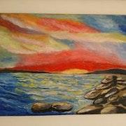 Un coucher de soleil. Marc Boccara