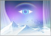 L'œil bleu.