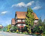 Maison à colombages à Hindisheim (67 Alsace).