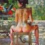 Desnudo de la silla.