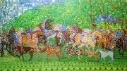 Cabalos y perros. Artetrufel