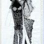 La madone noire une oeuvre textile dentelle et autre tissu. Isabelle Piron