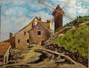 Homenaje a corot. El moulin de la Galette Montmartre..