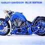 Harley davidson blue edition. Didi