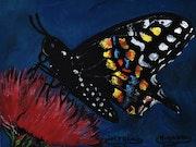 Peinture papillon /v3/, par joky kamo.