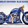Harley davidson blue edition aus saphiren und lapis lazuli. Didi