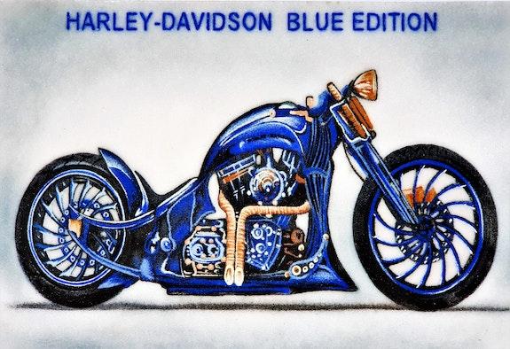 Harley davidson blue edition aus saphiren und lapis lazuli. Huong Manh Didi