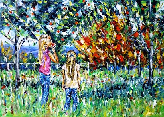 Children under the apple tree. Mirek Kuzniar Mirek Kuzniar