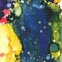 Cascade - encres sous verre - Dimensions : 36 X 46 cm. Sylvaine Mace