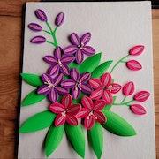 Quilling flowers art. Madhura Jagtap