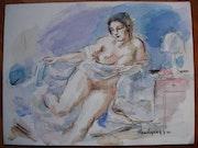 Nu Accoudé. Art Versailles