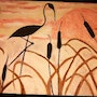 Cranes in the cattails.