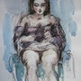 Nacktes Sitzen. Art Versailles
