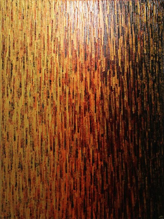 Abstract painting: Large gold orange purple fade.. Jonathan Pradillon Jonathan Pradillon