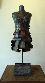 Buste «The Warrior» - hauteur 69 cm. Sylvaine Mace