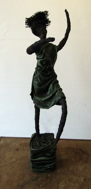 Statue «La danseuse» - hauteur 51 cm. Sylvaine Mace
