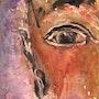 «Contemplation» - inks under glass - 43.5 X 53.5 cm. Sylvaine Mace