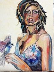La femme et l'oiseau. Felicia Butel
