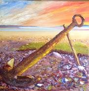 Old kedge anchor. Colin Williams