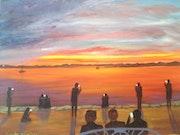 Capturing sunset. Colin Williams