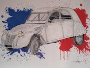 Icône Française la 2cv Citroën des années 50. Yves Briais