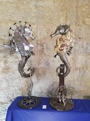 Hippocampe mécanique et hippocampes coquillus..
