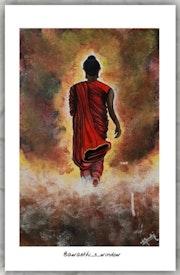 """A disciplined mind brings happiness. ""~ Buddha. Awasthi_S_Art"